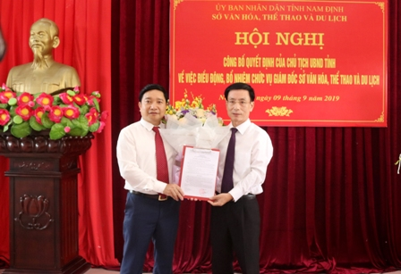 Hội nghị công bố Quyết định bổ nhiệm chức vụ Giám đốc Sở Văn hoá, Thể thao và Du lịch Nam Định