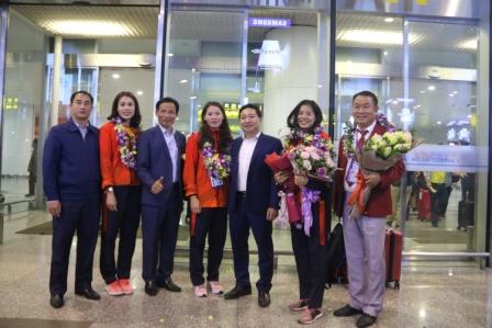 Nam Định đón các vận động viên, huấn luyện viên  Điền kinh tham dự SEA Games 30
