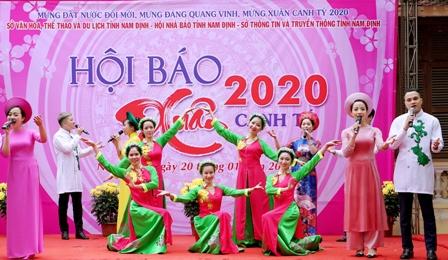 Tưng bừng Khai mạc Hội Báo Xuân Canh Tý năm 2020  tại Nam Định