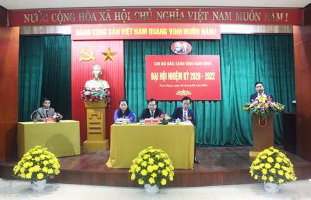 Tổ chức Đại hội chi bộ Bảo tàng tỉnh Nam Định - Đại hội chi bộ điểm nhiệm kỳ 2020-2022