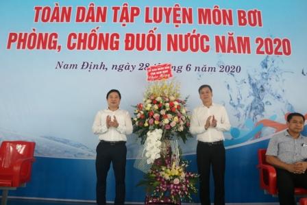 Lễ phát động toàn dân tập luyện môn bơi, phòng chống đuối nước tỉnh Nam Định năm 2020