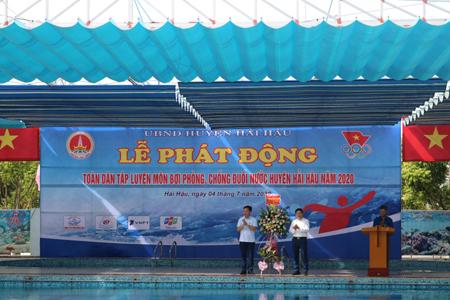 Lễ phát động toàn dân tập luyện môn Bơi  phòng, chống đuối nước huyện Hải Hậu năm 2020
