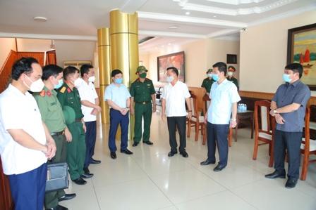 Đồng chí  Phó Chủ tịch Thường trực UBND tỉnh Nam Định cùng Lãnh đạo Sở VHTTDL và các sở, ngành chức năng của tỉnh kiểm tra công tác phòng, chống dịch bệnh COVID-19 tại huyện Giao Thuỷ